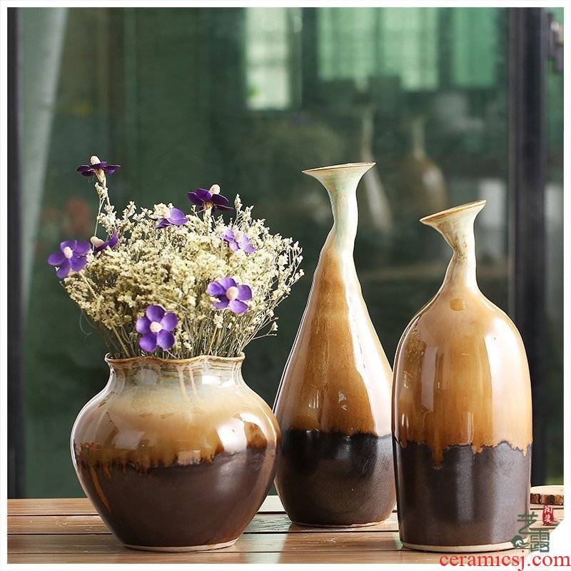 I and contracted jingdezhen ceramic flowers, dried flowers decorate the sitting room vase floret bottle up the porcelain
