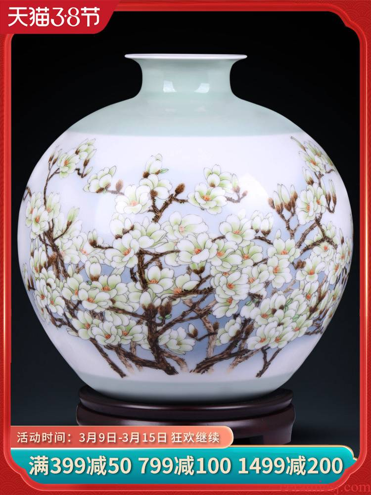 Jingdezhen ceramics flower adornment masters creation primrose, open new sitting room of Chinese style household furnishing articles