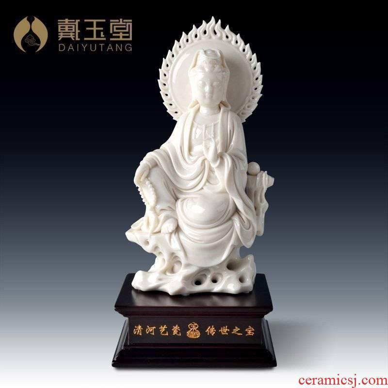 Yutang dai ceramic avalokitesvara worship that occupy the home furnishing articles art collection Buddha guanyin D29-11