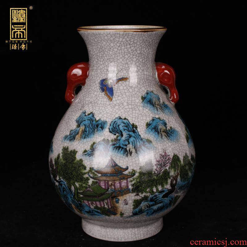 Jingdezhen imitation the qing qianlong on crackle f tube bottles of antique reproduction antique table ano decoration as old place