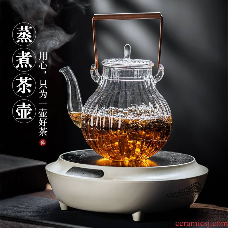 Electric TaoLu black tea boiling tea ware mini steam glass teapot tea stove small waves furnace.mute boil water