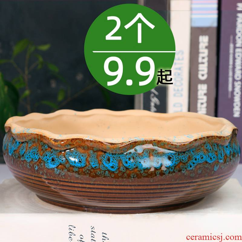 The Fleshy flower POTS, large diameter special offer a clearance package mail oversized contracted household variable flowerpot ceramic large platter