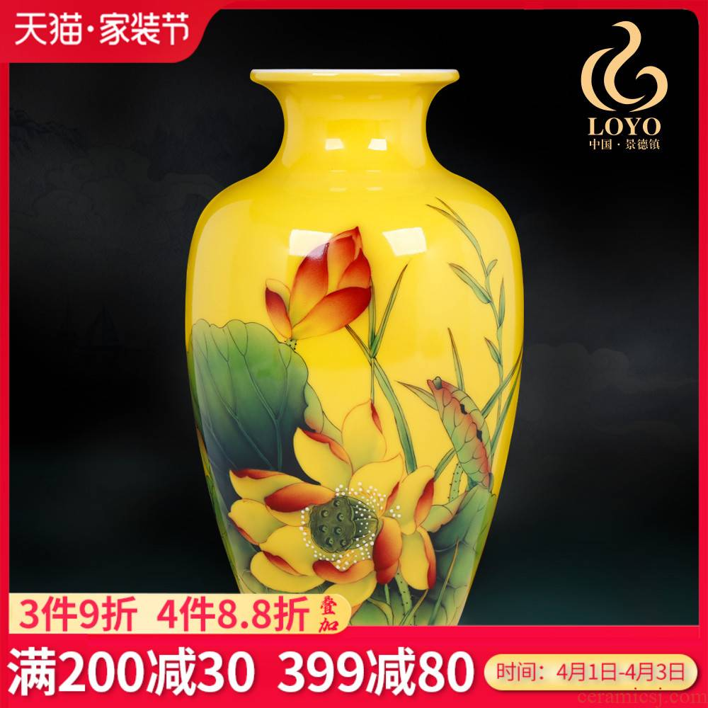 Jingdezhen ceramics furnishing articles hand - made of lotus pond scent vase Chinese style household table decoration decoration