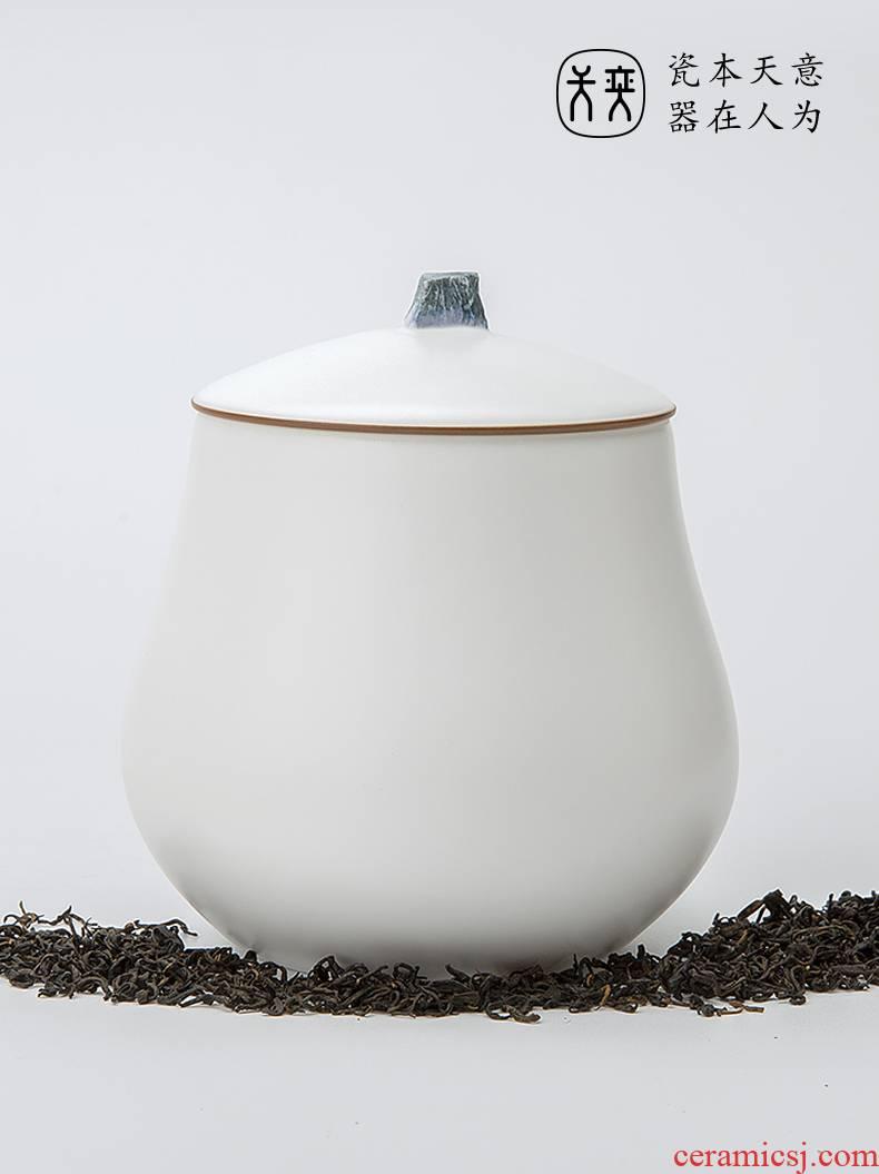 Wilson of the RongShan day jingdezhen ceramic tea pot seal pot home half jins to storage tanks moistureproof box meal storehouse