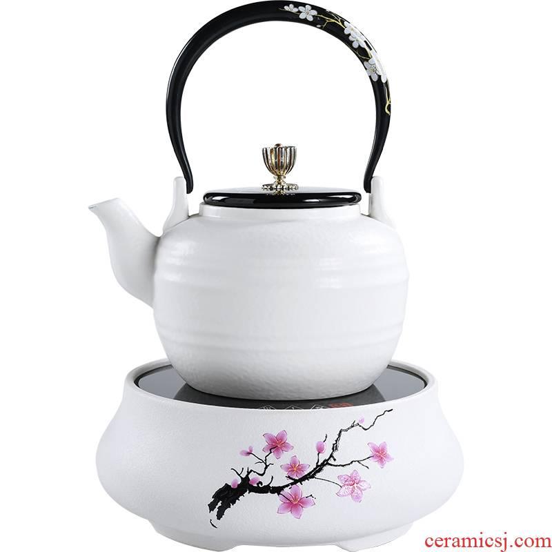 The Mini electric TaoLu boiling tea household porcelain teapot tea stove suits for health ceramic pot of fully automatic kettle