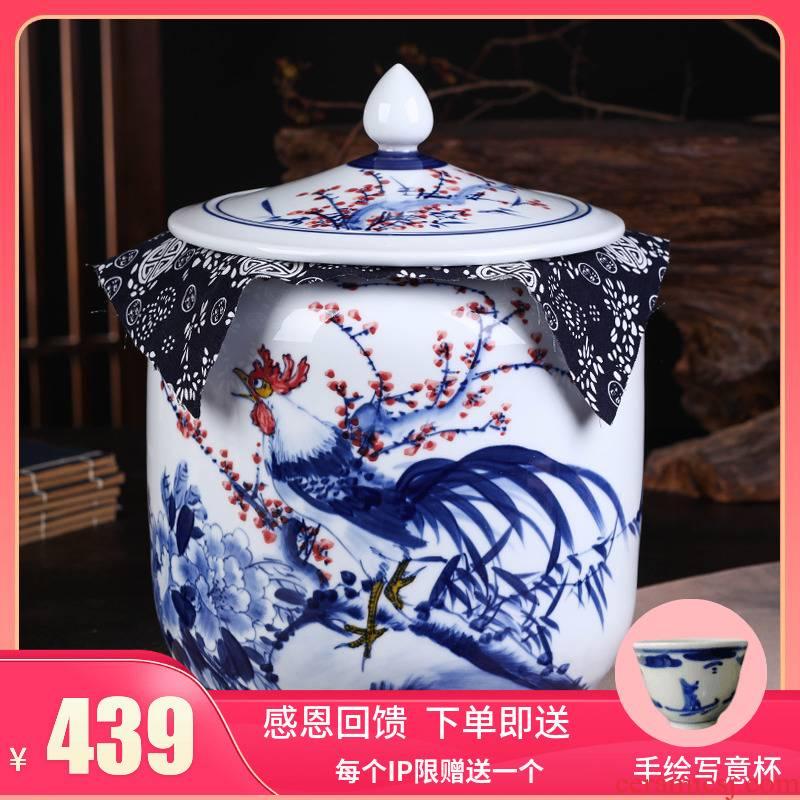 Jingdezhen ceramic seal POTS pu 'er tea gift box packaging large celadon receives universal seal pot