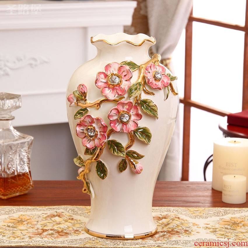 The new European creative ceramic vase furnishing articles furnishing articles sitting room flower arranging household act The role ofing is tasted porcelain decorative vase
