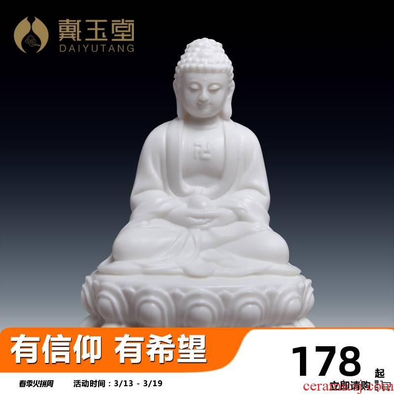 Yutang dai ceramic home to medicine the guru Buddha amitabha Buddha sakyamuni tathagata Buddha triple gem furnishing articles