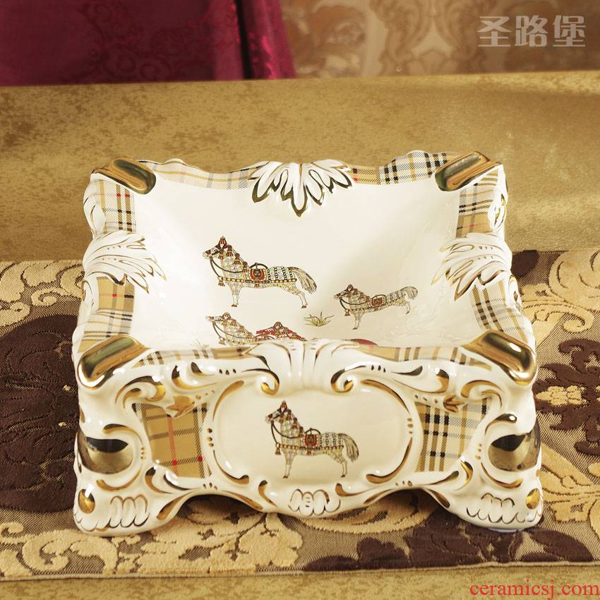 St way fort Europe type restoring ancient ways the ashtray individuality creative fashion a large ceramic ashtray sitting room adornment is placed