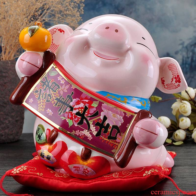 Stone workshop (golden) pig furnishing articles ceramic piggy bank home office wine ark, adornment of the New Year gift