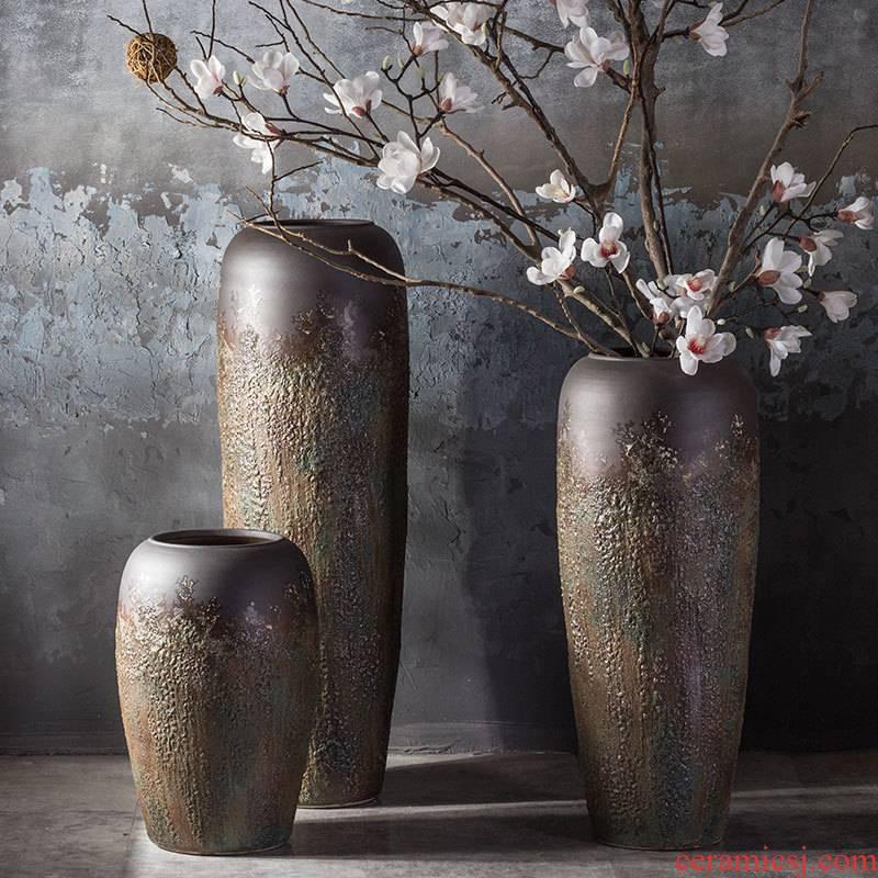 Modern European American jingdezhen ceramic floor vase club hotel furnishing articles sitting room window flower POTS