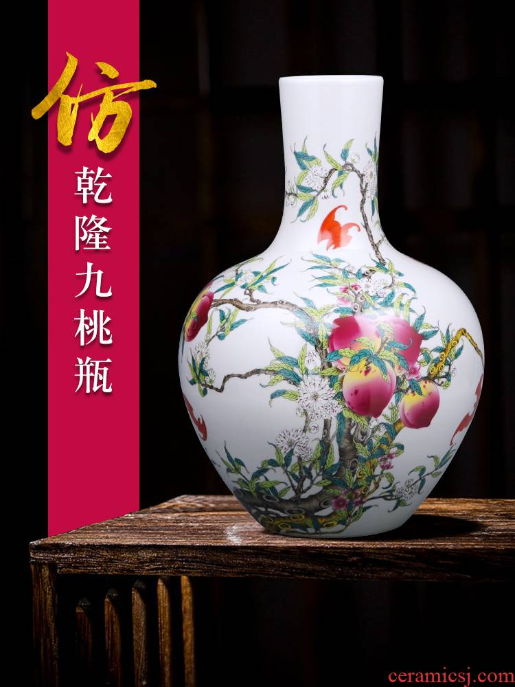 Porcelain of jingdezhen ceramics vase large sitting room place flower arranging restoring ancient ways is rich ancient frame of Chinese style household ornaments