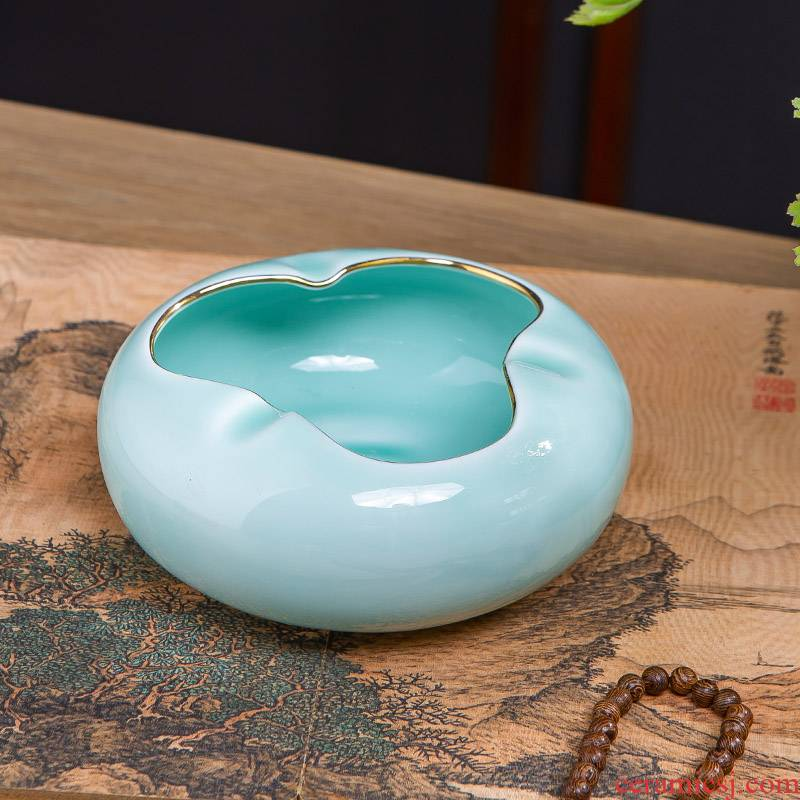 Jingdezhen ceramic fuels the ashtray ideas of new Chinese style household living room office windproof craft ornaments