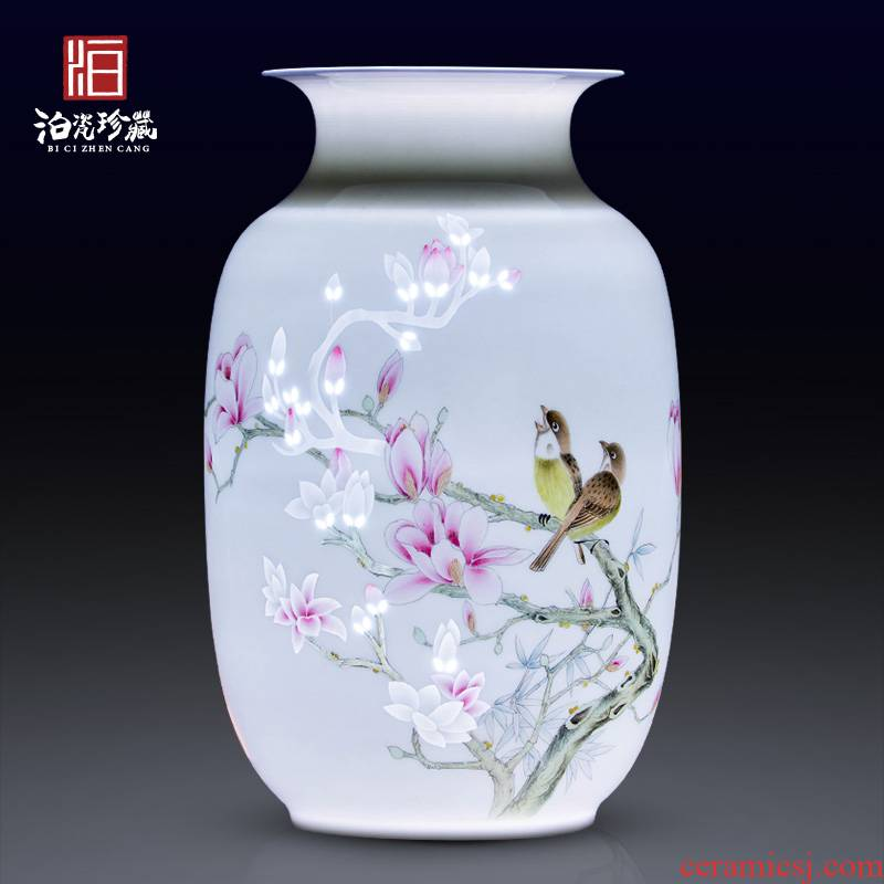 Jingdezhen ceramic hand - made dry flower vases, I and contracted household bedroom new Chinese style living room decorative furnishing articles