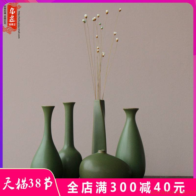 Zen ceramic floret bottle of new Chinese style restoring ancient ways is coarse TaoHua home porch tea table wine ark, adornment furnishing articles