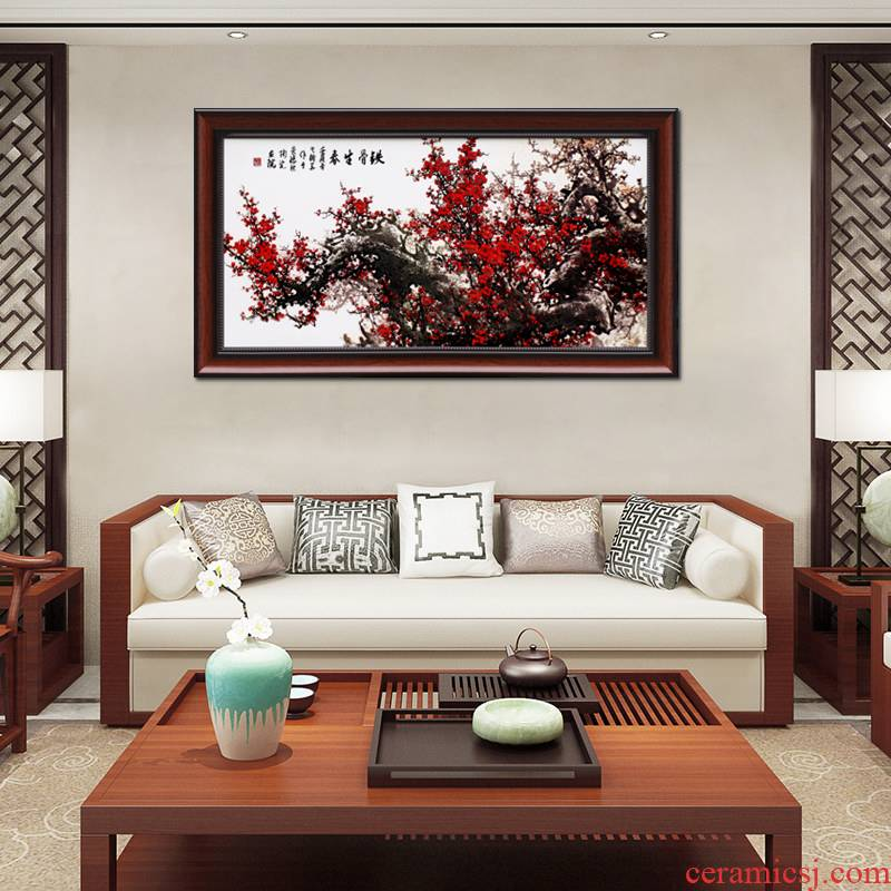Jingdezhen porcelain plate painting hangs a picture of I and contracted style sitting room adornment sitting room porch bedroom new Chinese style murals