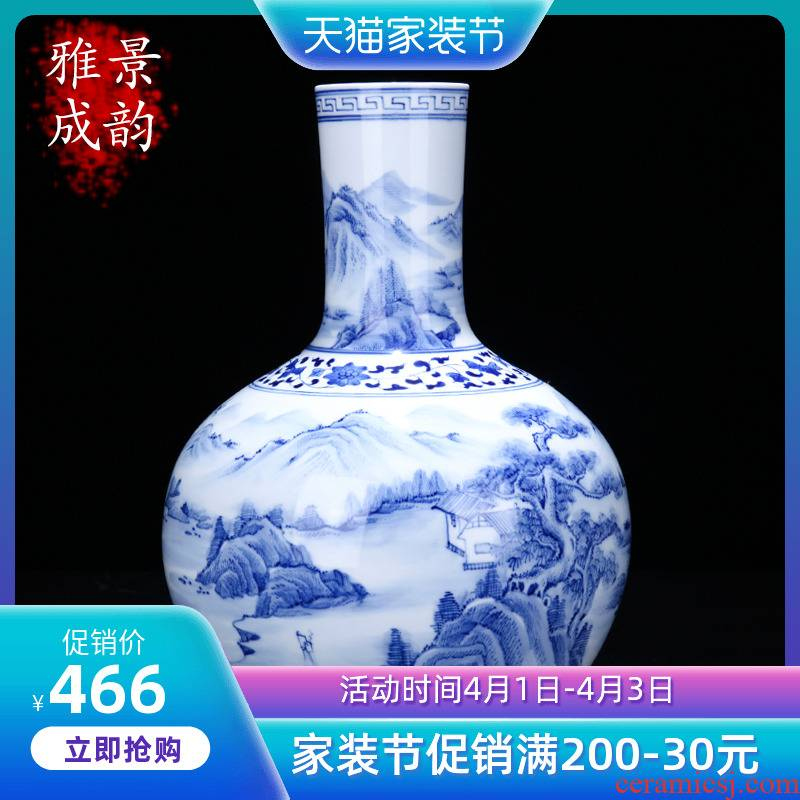 The blue and white porcelain of jingdezhen ceramics hand - made songjiang nostalgia tree home sitting room porch decoration furnishing articles