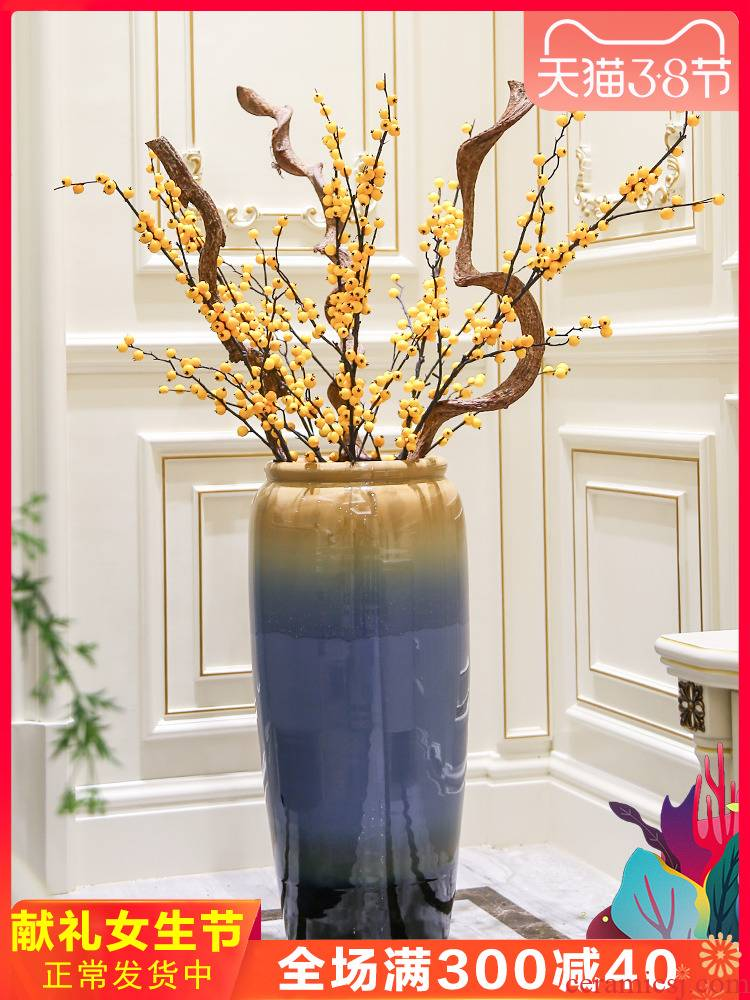 New Chinese style porch ground vase TV ark place, a large European household ceramics flower arrangement sitting room adornment