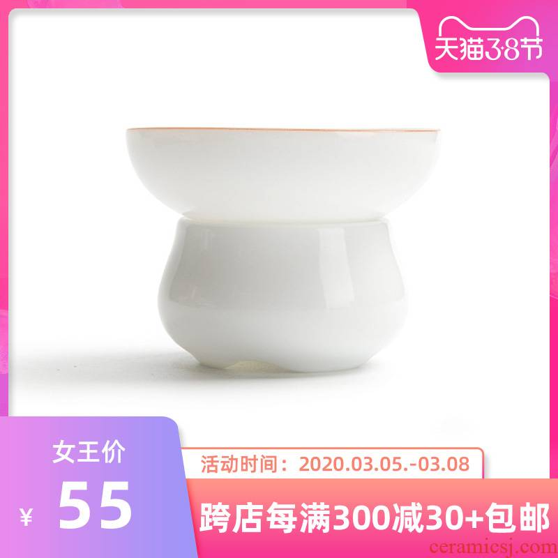 Mr Nan shan sweet white tea filter ceramic filter stroke Japanese kung fu tea tea sets up phnom penh fittings of the hook