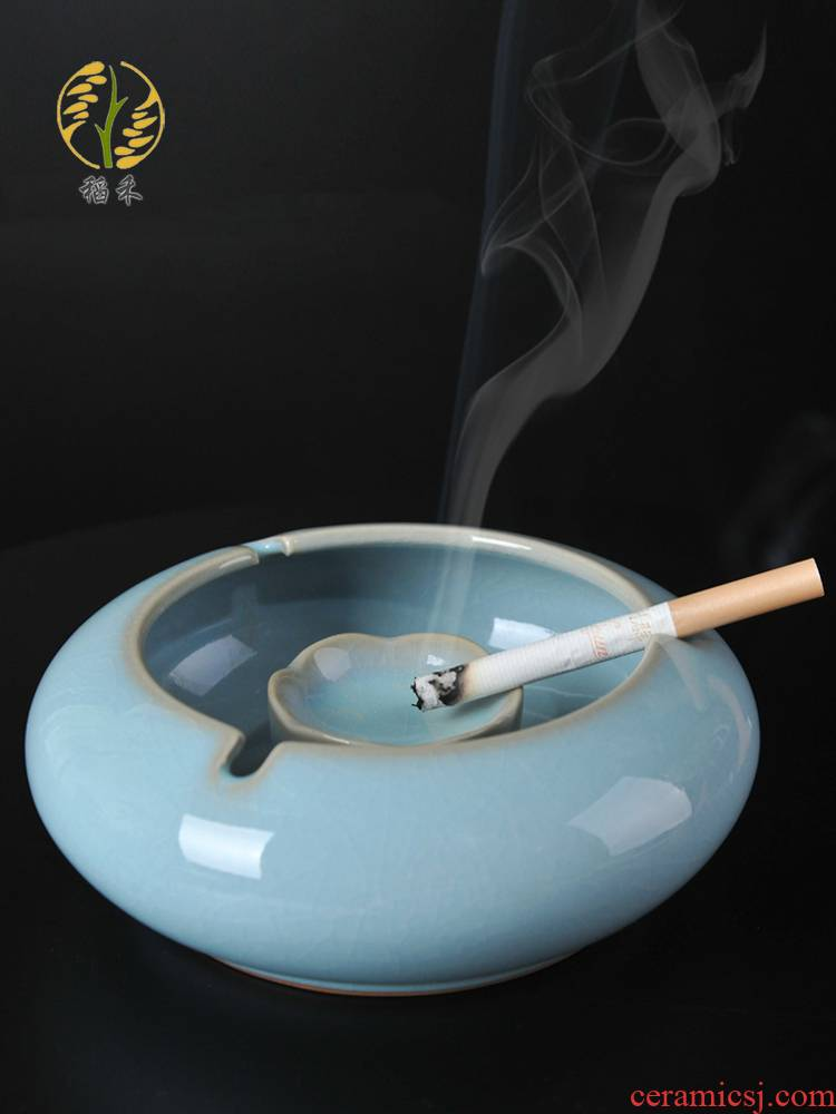 Ceramic ashtray individuality creative trend wind large living room home office Chinese style classical your up the ashtray