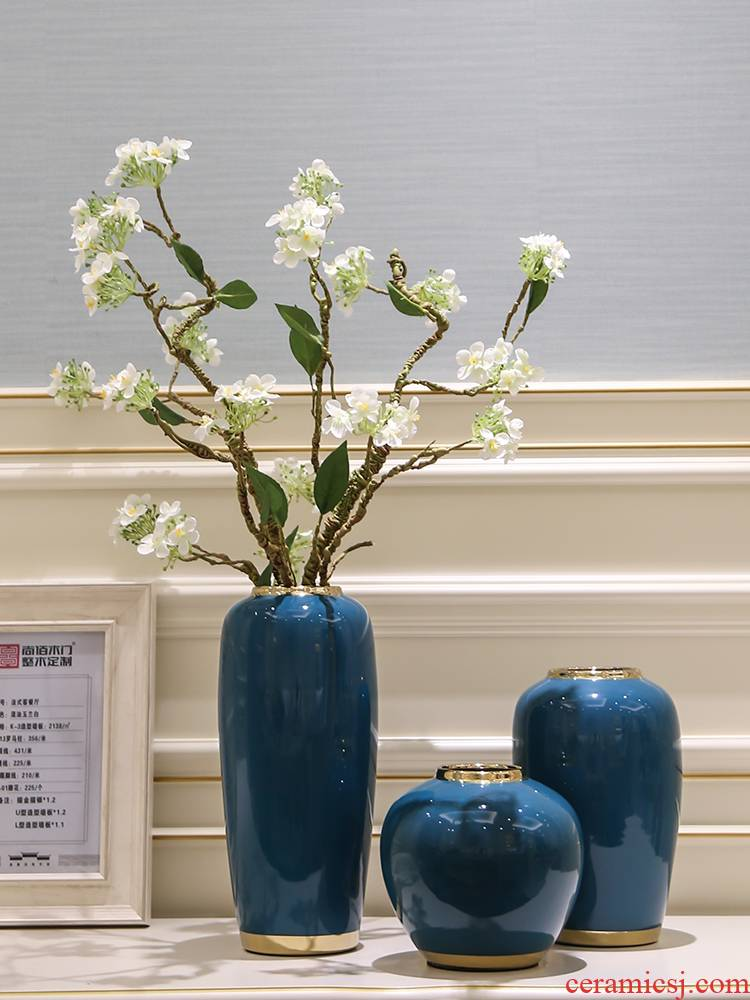 Contracted and I light much simulation ceramics inserts vase Nordic sitting room table, creative home decoration decoration parts