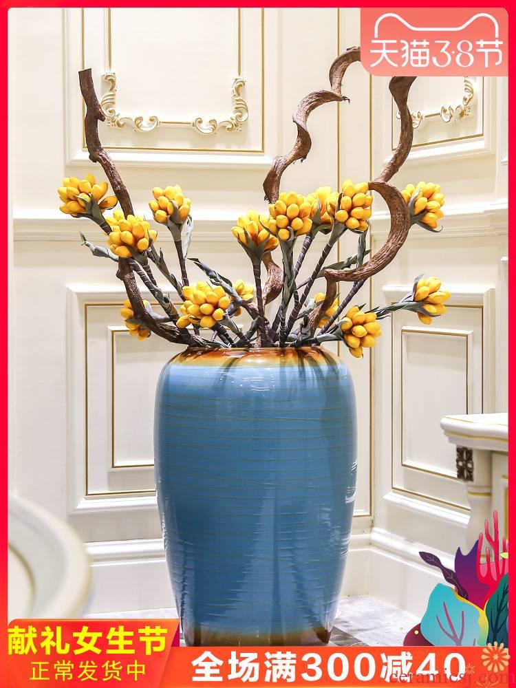 Jingdezhen European vase landing large vases, flower arranging ceramic flower implement home furnishing articles, the sitting room porch decoration