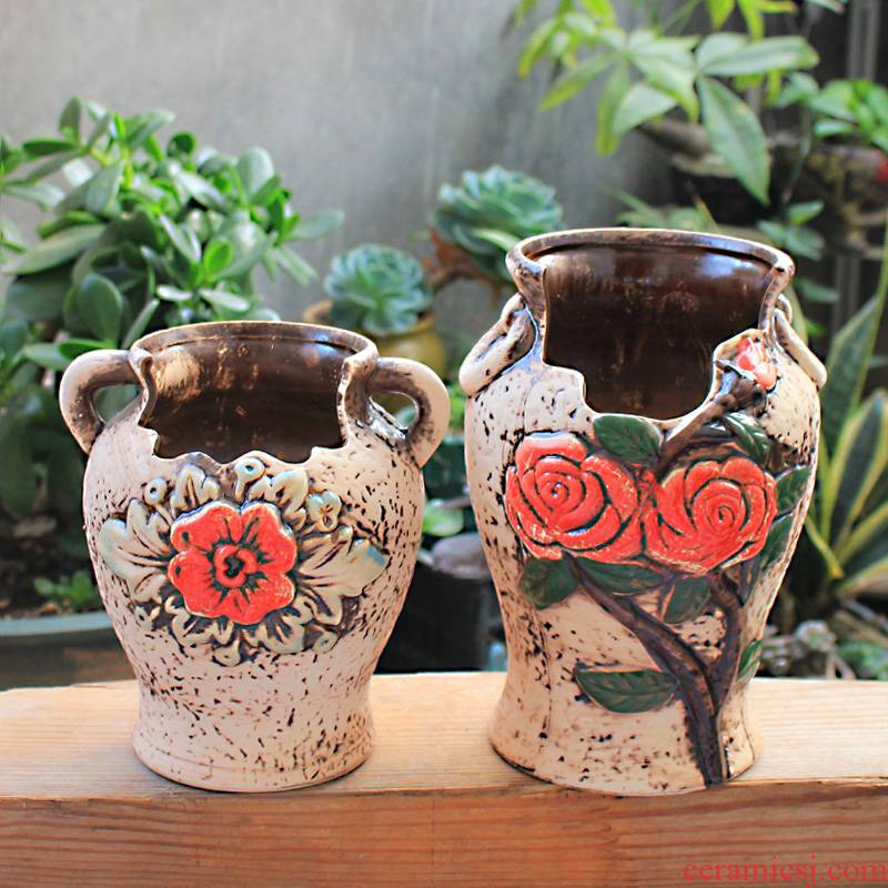 Restore ancient ways more meat flowerpot special indoor old running extra large violet arenaceous contracted creative green plant European flower pot in ceramics