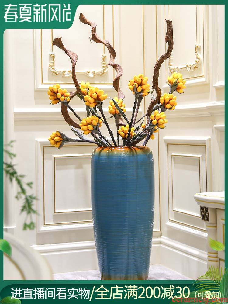 Jingdezhen contracted and I ceramic simulation flower arranging furnishing articles sitting room of large vases, new Chinese style villa decorations