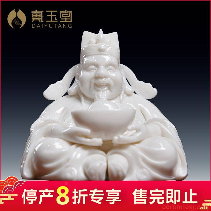 Dehua white porcelain production is pulled from the shelves 】 【 little god of wealth