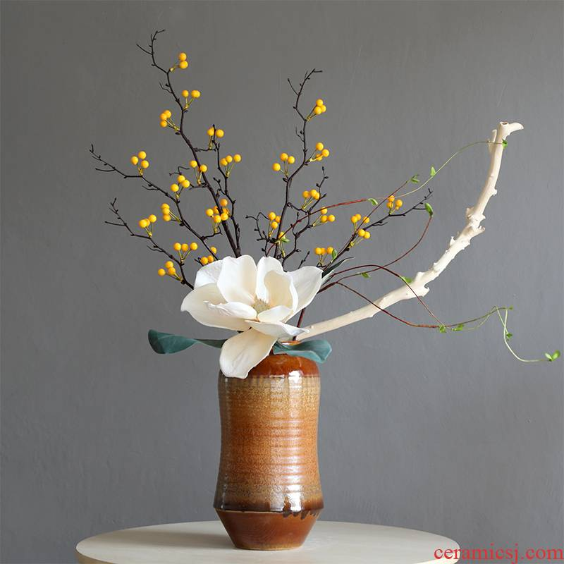 New Chinese style ceramic vase furnishing articles big POTS to the sitting room porch zen hotel floral dried flowers flower arrangement soft decoration