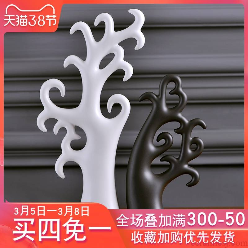 Creative Nordic home decoration ceramic furnishing articles contracted and I sitting room ark, indoor desk decoration process