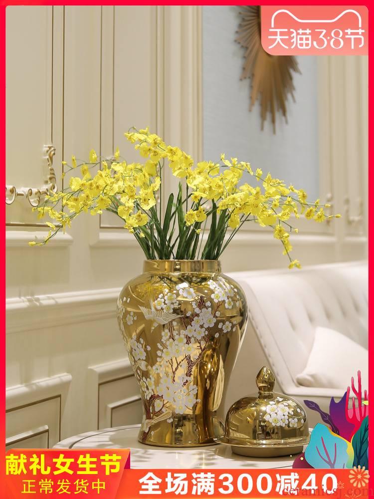 General new Chinese jingdezhen ceramic pot vase TV ark, prevent true floral arrangements furnishing articles flower flower