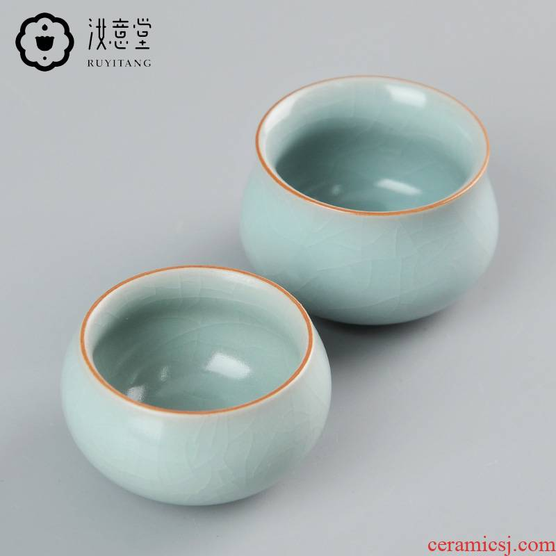 Archaize your up sample tea cup your porcelain teacup small ceramic tea set from the single CPU start master cup meditation cup