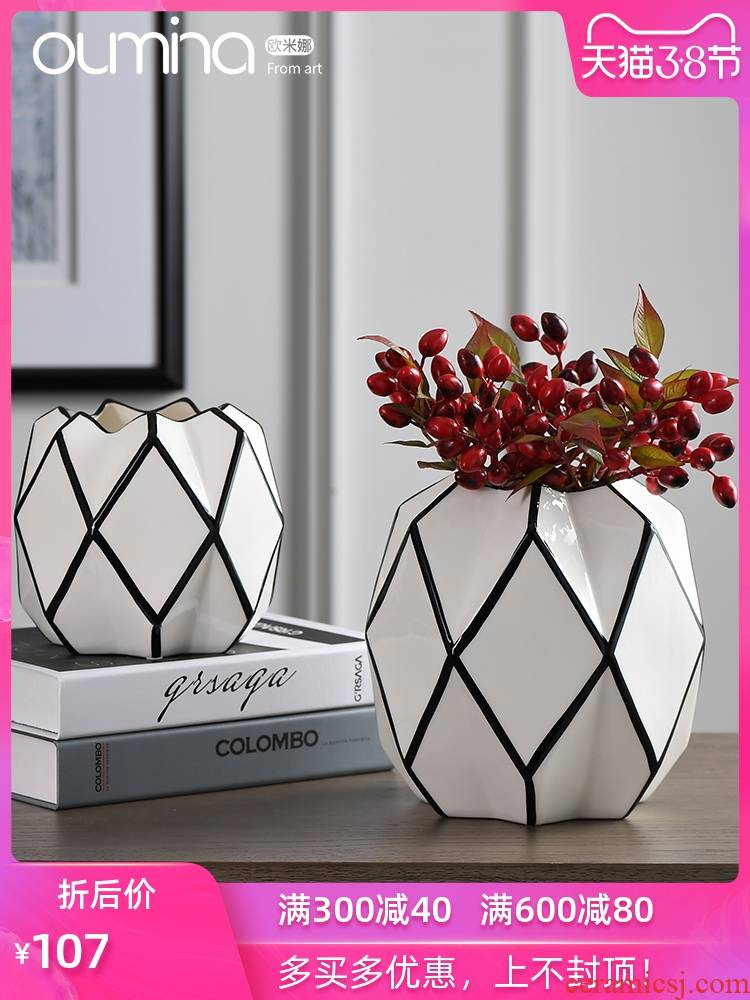The mina flower implement furnishing articles home sitting room is I and contracted ceramic flower arranging dried flowers, household decoration decoration