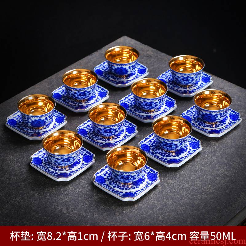 Checking out silver cup 999 sterling silver cup kung fu tea set ceramic silver mine loader the silver sample tea cup master cup single CPU