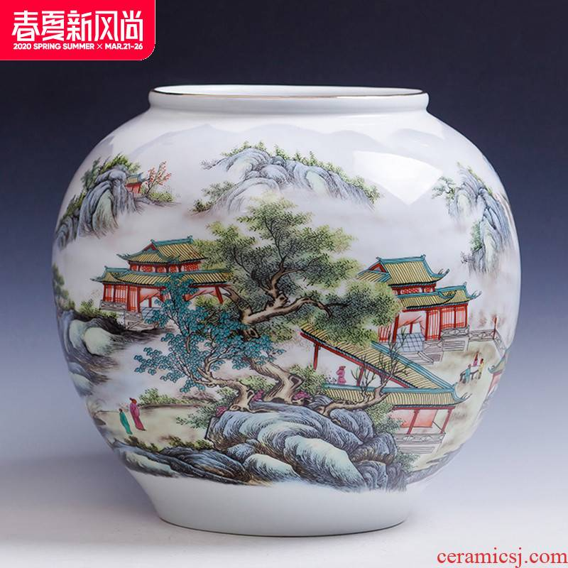 Jingdezhen porcelain hand write creative ceramics aquarium YunJing newest day lily pads refers to basin of lotus home decorations