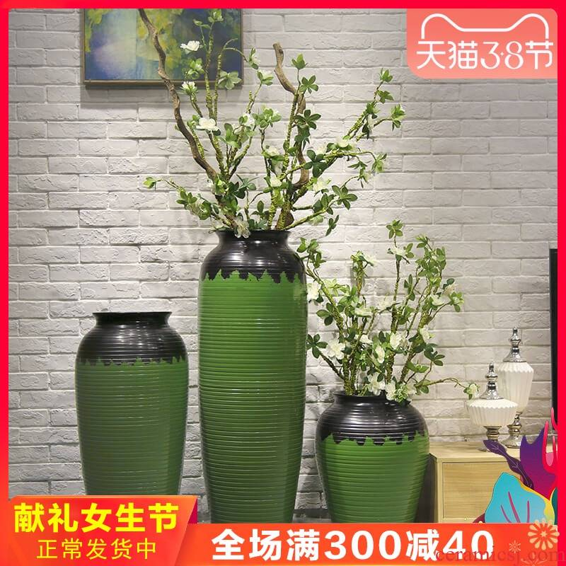 Jingdezhen new Chinese style of large hotels sitting room vase fake flower simulation flower, adornment is placed between the example