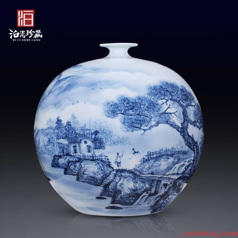 Jingdezhen ceramics hand - made porcelain vases, flower arrangement home sitting room porch Chinese TV ark adornment furnishing articles