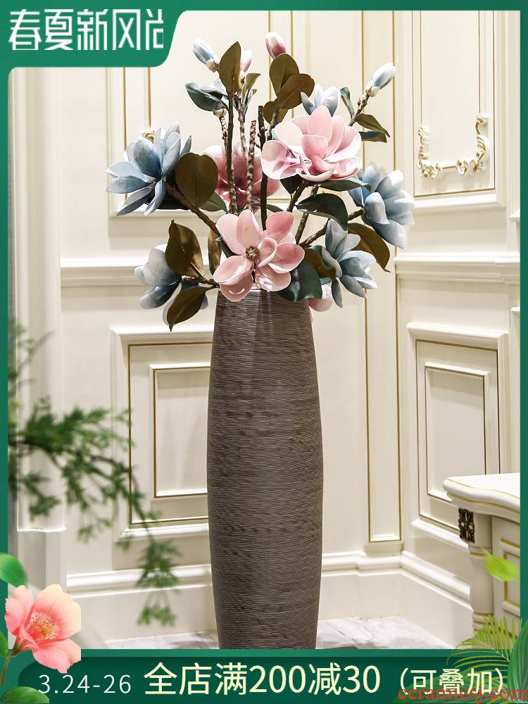 Jingdezhen landing large ceramic vases, new Chinese style flower sitting room porch dried flower adornment bedroom furnishing articles