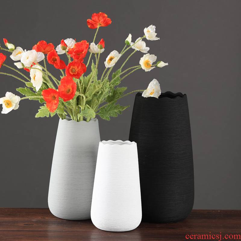 Nordic I and contracted flower vase furnishing articles sitting room flower arranging dried flower vase creative hydroponic ceramic European vase