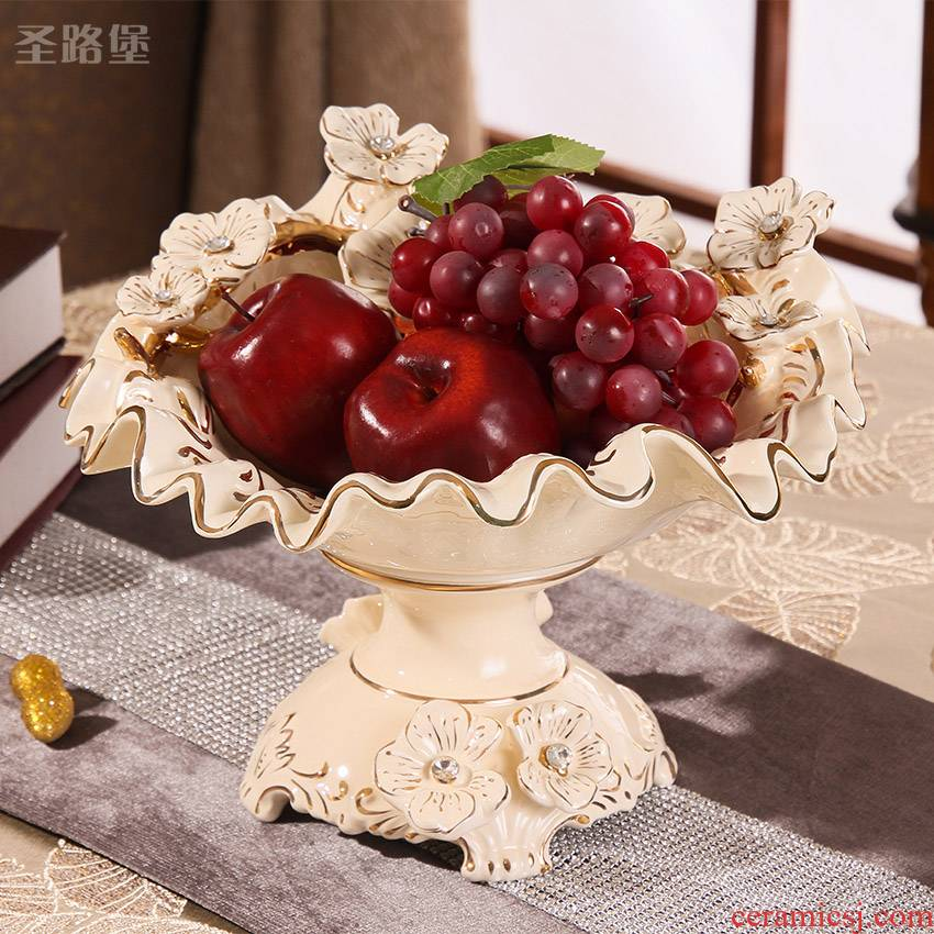 St way fort European ceramic compote sitting room adornment of fruit compote furnishing articles wedding present for girlfriends