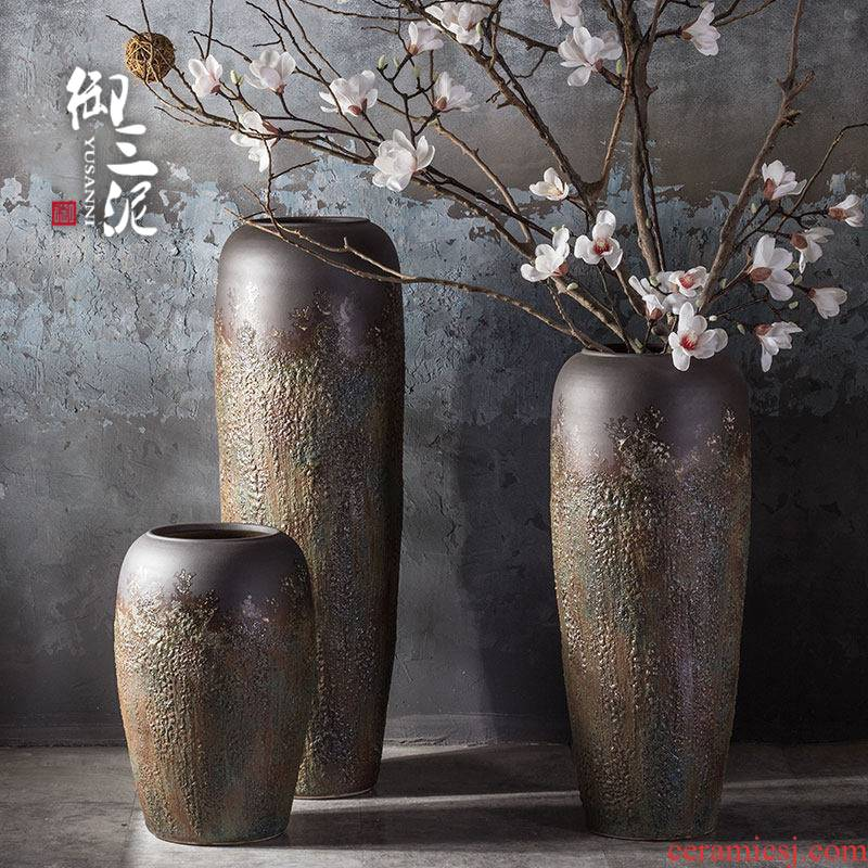 Dry flower decoration vase furnishing articles furnishing articles Nordic creative home, the contributor of large window center hall hotel flower POTS