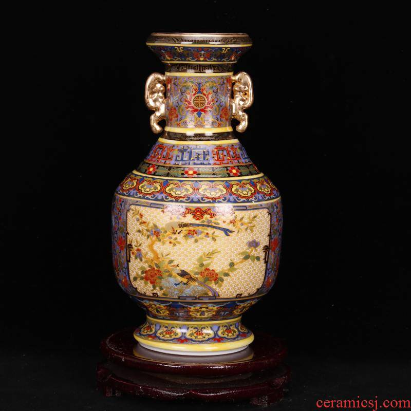 Jingdezhen archaize colored enamel porcelain the qing yongzheng com.lowagie.text.paragraph Chinese antique antique crafts vase archaize home outfit