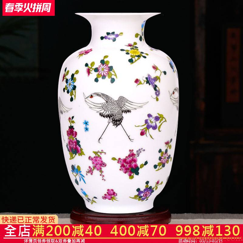 Jingdezhen ceramics noctilucent floret bottle gourd bottle arranging flowers wine sitting room place, modern new Chinese arts and crafts