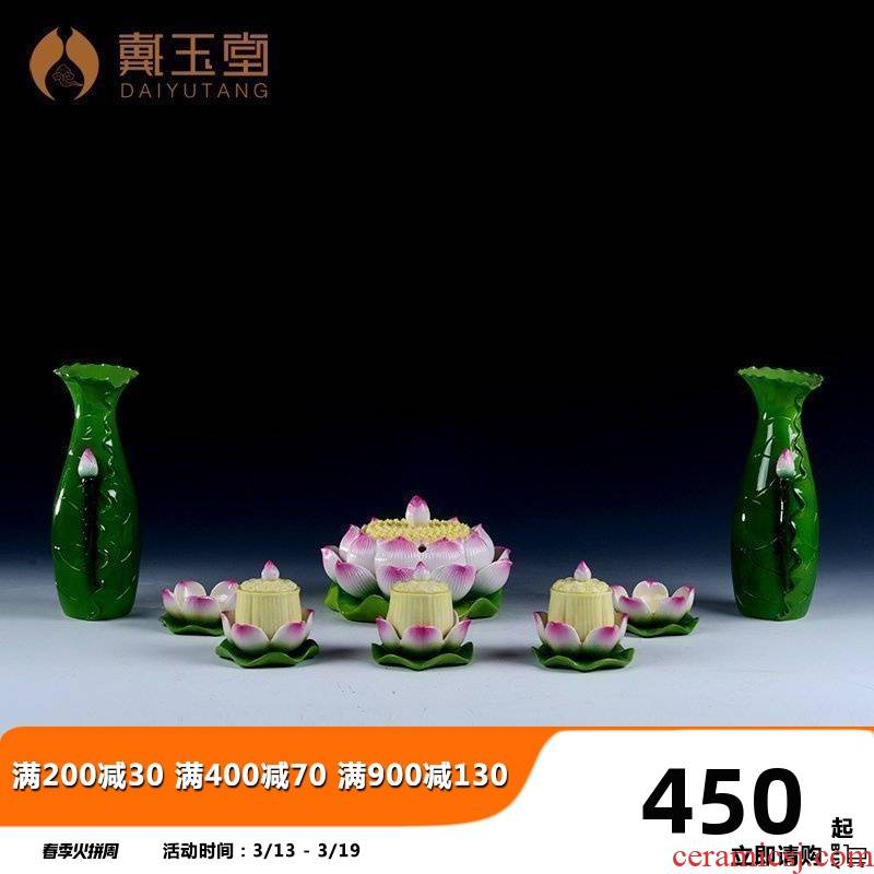 Yutang dai ceramic Buddha before Buddha temple dedicated hardware products suit for sweet home furnishing articles Buddhism for Buddha