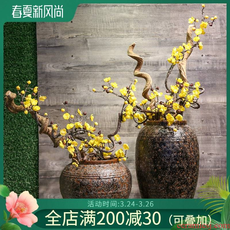 Mesa of restoring ancient ways of jingdezhen ceramic vase decorated living room TV cabinet office copy furnishing articles table simulation artificial flowers