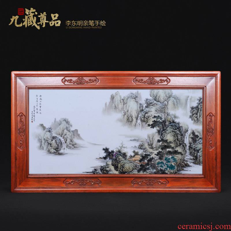 The Master of jingdezhen ceramics dong - Ming li hand - made it sitting room adornment household handicraft picture porcelain plate
