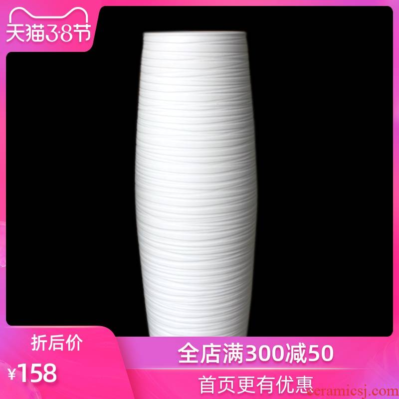 Strong sequence contracted and I large white ceramic vase landed furnishing articles sitting room fashion accessories flowerpot straight receptacle