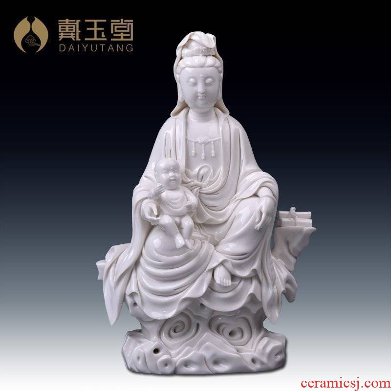 Yutang dai furnishing articles dehua white porcelain goddess of mercy guanyin bodhisattva figure of Buddha of pottery and porcelain/SongZi guanyin D50-07