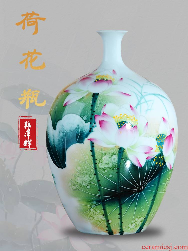 Jingdezhen ceramics furnishing articles household act the role ofing is tasted I and contracted famous masterpieces hand - made decorative vase in the living room